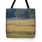 Blue Heron ...in Flight Tote Bag