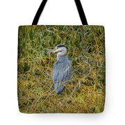 Blue Heron In The Autumn Colours Tote Bag