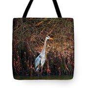 Blue Heron In The Cypress Knees Tote Bag