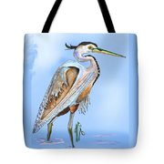 Blue Heron In The Mist Tote Bag
