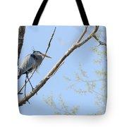 Blue Heron In Tree Tote Bag