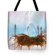 Blue Heron Nesting Tote Bag