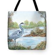 Blue Heron Of The Marshlands Tote Bag
