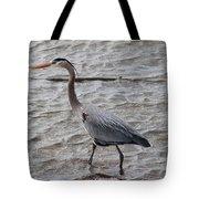 Blue Heron  On The Lake Tote Bag