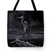 Blue Heron Pose Tote Bag