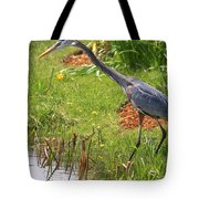 Blue Heron Scene Tote Bag
