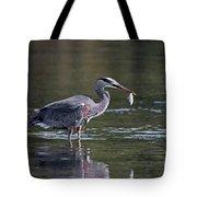 Blue Heron Snack Tote Bag