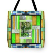 Blue Heron Stained Glass Tote Bag