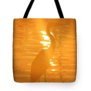 Blue Heron Sunrise Tote Bag