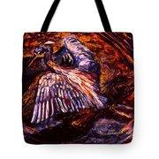 Blue Heron Swirl Tote Bag