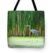 Blue Heron Taking A Walk Tote Bag