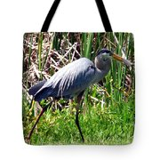 Blue Heron With Lunch Tote Bag