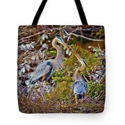 Blue Herons Tote Bag