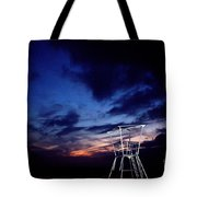 Blue Hole Tower Tote Bag