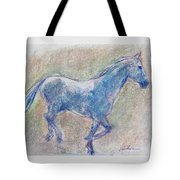 Blue Horse Tote Bag