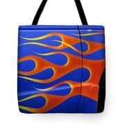 Blue Hot Rod Closeup Tote Bag