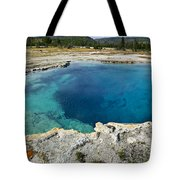 Blue Hot Springs Yellowstone National Park Tote Bag