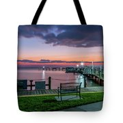 Blue Hour At Cape Shores Tote Bag