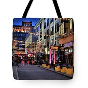 Blue Hour At East Fourth Tote Bag