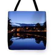 blue hour in Cork Tote Bag