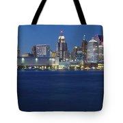 Blue Hour In Detroit Tote Bag