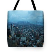 Blue Hour In New York Tote Bag
