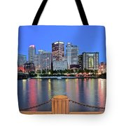 Blue Hour In The Steel City Tote Bag