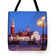 Blue Hour In Venice Tote Bag by Barry O Carroll
