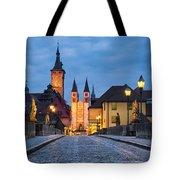 Blue Hour In Wuerzburg Tote Bag