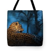 Blue Hour Leopard Tote Bag