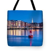 Blue Hour Over Portsmouth New Hampshire Tote Bag