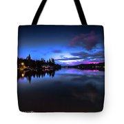 Blue Hour Reflected Tote Bag