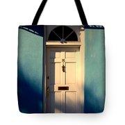 Blue House Door Tote Bag