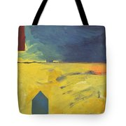 Blue House Gold Field Tote Bag