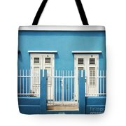 Blue Curacao House Tote Bag