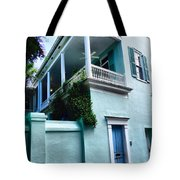 Blue House With A Blue Door Tote Bag
