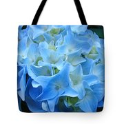 Blue Hydrangea Floral Flowers Art Prints Baslee Troutman Tote Bag