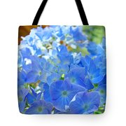 Blue Hydrangea Flowers Art Prints Summer Hydrangeas Baslee Tote Bag