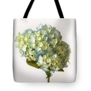 Blue Hydrangea Spray Tote Bag