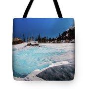 Blue Ice Sheet - Lake Hiayaha Tote Bag