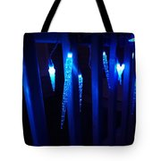 Blue Icicles Tote Bag