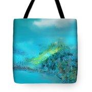 Blue Impressions Tote Bag