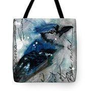 Blue In Snow Tote Bag