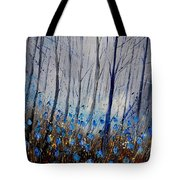 Blue In The Wood Tote Bag