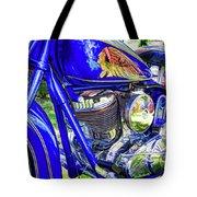 Blue Indian Tote Bag