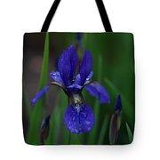 Blue Iris Petal Tote Bag