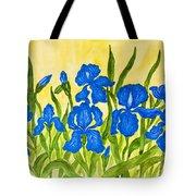 Blue Irises Tote Bag
