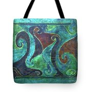 Blue Island Curves Tote Bag
