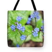 Blue Jack Frost Flowers Tote Bag