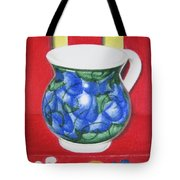 Blue Jarrito Tote Bag
